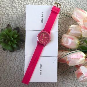 Pink Girl Ladies Watch rubberized Strap Nine West